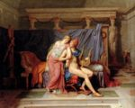 Jacques Louis David - Bilder Gemälde - Paris und Helen