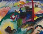 Wassily Kandinsky  - Bilder Gemälde - Landscape with Factory Chimney