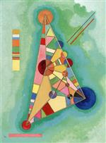 Wassily Kandinsky  - Bilder Gemälde - Multi Colored Triangle