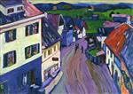 Wassily Kandinsky  - Bilder Gemälde - Murnau - View from the Window of the Griesbräu