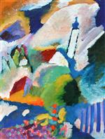 Wassily Kandinsky  - Bilder Gemälde - Murnau with Church I