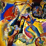 Wassily Kandinsky  - Bilder Gemälde - Painting with the Red Patch