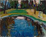 Wassily Kandinsky  - Bilder Gemälde - Pond in the Park