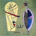 Wassily Kandinsky  - Bilder Gemälde - Three Between Two