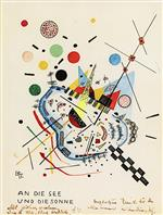 Wassily Kandinsky  - Bilder Gemälde - Too the Sea and the Sun