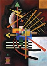 Wassily Kandinsky  - Bilder Gemälde - Top and Left