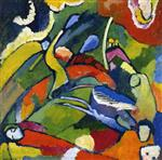 Wassily Kandinsky  - Bilder Gemälde - Two Riders and Reclining Figure