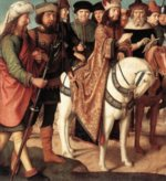 Gerard David - paintings - Pilates Dispute with the High Priest