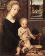 Gerard David - paintings - The Madonna of the Milk Soup