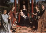 Gerard David - paintings - The Mystic Marriage of St Catherine