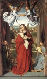 Gerard David - paintings - Virgin and Child with Four Angels