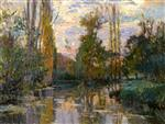 Albert Lebourg - Bilder Gemälde - Banks of the Iron, Sunset