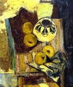 Bild:Cubist Still Life with Ceramic Bowl and Apples