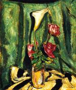 Alfred Henry Maurer  - Bilder Gemälde - Still Life with Calla Lily and Roses