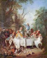 Nicolas Lancret - paintings - Luncheon Party