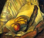 Alfred Henry Maurer  - Bilder Gemälde - Still Life with Trout, Bananas and Apple