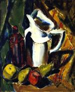 Alfred Henry Maurer  - Bilder Gemälde - Still Life with White Pitcher