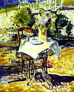 Alfred Henry Maurer  - Bilder Gemälde - The Iron Table