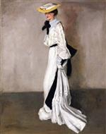 Alfred Henry Maurer  - Bilder Gemälde - The Woman in White