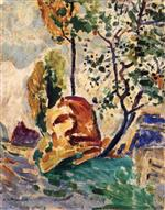 Alfred Henry Maurer  - Bilder Gemälde - Tree and Rock