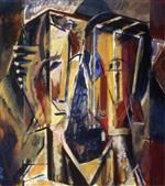 Alfred Henry Maurer  - Bilder Gemälde - Two Heads with Yellow Background