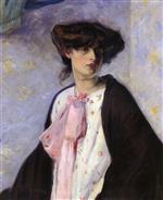 Bild:Woman with a Pink Bow