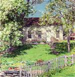 Willard Leroy Metcalf  - Bilder Gemälde - The Little White House
