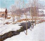 Willard Leroy Metcalf  - Bilder Gemälde - The Open Stream