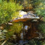 Willard Leroy Metcalf  - Bilder Gemälde - The Pool