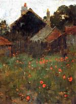 Willard Leroy Metcalf  - Bilder Gemälde - The Poppy Field