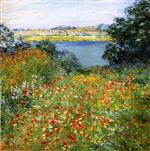Willard Leroy Metcalf  - Bilder Gemälde - The Poppy Garden