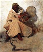 Willard Leroy Metcalf  - Bilder Gemälde - The Snake Charmer