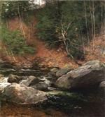 Willard Leroy Metcalf  - Bilder Gemälde - The Trout Pool, November