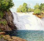 Willard Leroy Metcalf  - Bilder Gemälde - The Waterfall