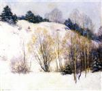 Willard Leroy Metcalf  - Bilder Gemälde - Willows in March