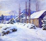 Willard Leroy Metcalf  - Bilder Gemälde - Winter Afternoon