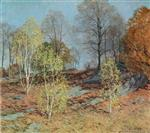 Willard Leroy Metcalf  - Bilder Gemälde - Young Birches in October
