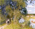 Pierre Eugène Montézin  - Bilder Gemälde - Trail along the Eure
