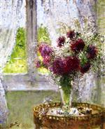 Pierre Eugène Montézin  - Bilder Gemälde - Vase of Flowers by the Window