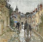 Pierre Eugène Montézin  - Bilder Gemälde - Village under the Rain