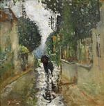 Pierre Eugène Montézin  - Bilder Gemälde - Walking in the Rain