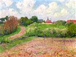 Bild:Breton Landscape, Trees and Flowers