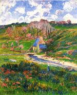 Henry Moret - Bilder Gemälde - Bretons on the Banks of a River