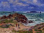 Henry Moret - Bilder Gemälde - By the Sea in Southern Brittany