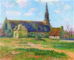 Henry Moret - Bilder Gemälde - Church at Tregunc