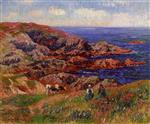 Henry Moret - Bilder Gemälde - Cliffs at Kerserol, Finistere
