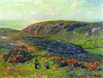 Henry Moret - Bilder Gemälde - Conversation in the Moor