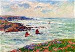 Henry Moret  - Bilder Gemälde - Entrance to the Port of Doelan Finistere