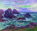 Henry Moret  - Bilder Gemälde - Evening at Ouessant