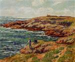 Henry Moret  - Bilder Gemälde - Fishermen on the Breton Coast